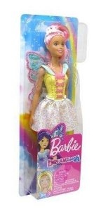 Boneca Barbie Fadas Cabelos Rosa Fxt03 - Mattel