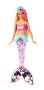 Barbie Sereia Dreamtopia Luzes Arco-íris FAIRYTALE Mattel