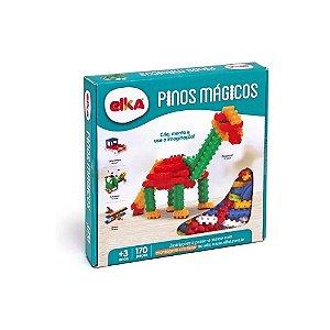 Jogo Educativo Pinos Magicos 170 Peças Coloridas - Elka 090