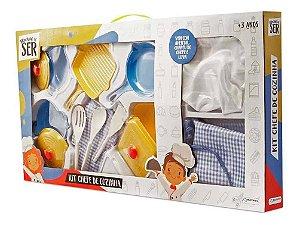 Brincando De Ser Kit Chefe De Cozinha Br957 Multikids
