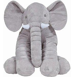 Almofada Para Bebês Elefante Gigante Cinza Buba