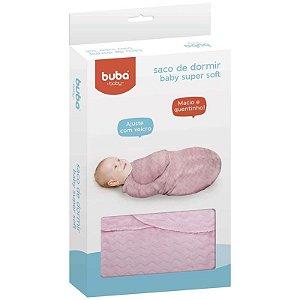 Saco de Dormir para Bebe Baby Macio Rosa Buba