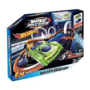 Hot Wheels Pista e 2 Carrinhos Wave Racers Triple Skyloop