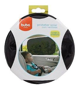 Protetor Solar Para Carro Com Ventosas Preto Buba