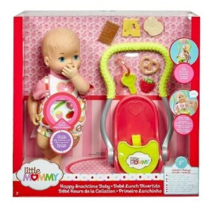 Boneca Little Mommy Primeiro Lanchinho - Mattel Fcn10