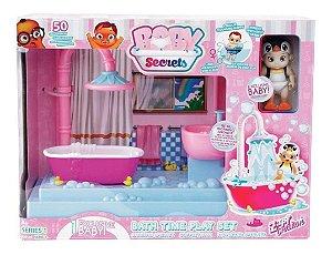 Boneca E Mini Playset - Baby Secrets - Hora Do Banho