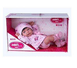Boneca Menina Anny Doll Baby Bebê Reborn 2441 Cotiplás
