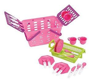 Kit Infantil Cesta De Pic Nic Magic Toys Ref 630