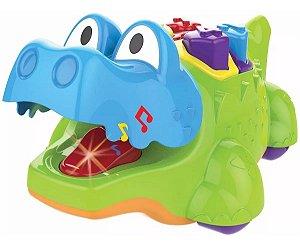 Brinquedo Didático Jacaré  Com Luz E Som - Magic Toys 1084