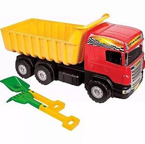 Caminhão Infantil Super Caçamba 78 Cms Magic Toys Ref 5050