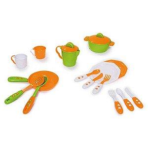 Kit Cozinha Infantil Panelinhas Brinquedos Calesita 334