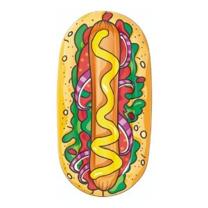 Boia Colchão Inflável Piscina Divertida Hot dog 1988 Mor