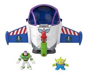 Mini Figura Toy Story Nave Espacial Buzz Light Imaginext