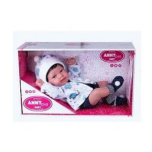 Boneco Menino Anny Doll Baby Bebê Reborn 2440 Cotiplás