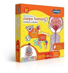 Quebra Cabeça 120 Peças Explorando O Corpo Humano Toyster