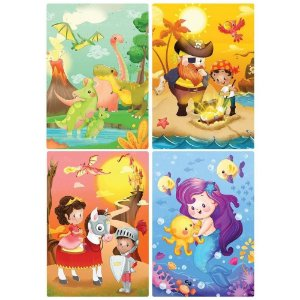 Quebra-Cabeça Sortido Mundo Da Fantasia 2572 Toyster