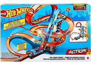 Pista Hot Wheels Torre De Colisão Aérea Gjm76 Mattel