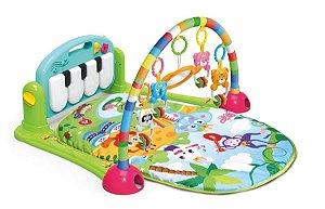 Tapete Atividades Baby Musical Toca Piano Azul Kitstar