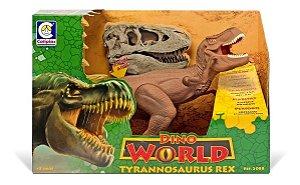 Dinossauro Tiranossauro Rex Dino World 2088 Cotiplás