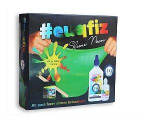 Kit P/Fazer 1 Slime Neon Cola Tinta Ativador - Eu Que Fiz I9