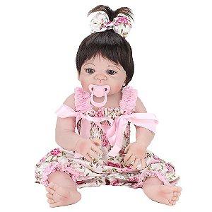 Bebe Reborn Laura Baby Pink Flower Nan Shiny Toys