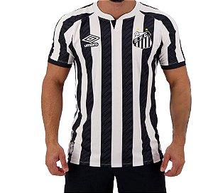 Camisa Masculina Santos II 2020 Preto e Branca Umbro