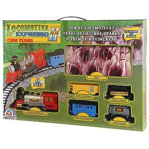Pista Locomotiva Expresso II c/ túnel 8001 Braskit