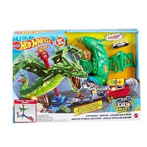 Pista Hot Wheels City Ataque Aéreo Do Dragão GJL13 Mattel