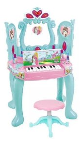 Penteadeira Sonho de Princesa com Piano DMT5646 DmToys