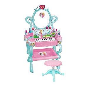 Penteadeira com Piano Sonho de Princesa DMT5647 Dm Toys