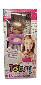 Boneca com Cabelo Totsy Frases 331 Super Toys