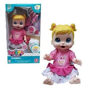 Boneca Baby's Collection Comidinha Menina 318 Super Toys