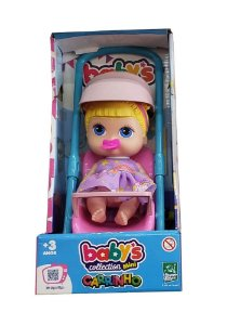 Boneca Babys Collection Mini Carrinho SORTIDO 338 Super Toys