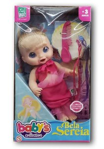 Boneca Bela Sereia SORTIDA Babys Collection Super Toys