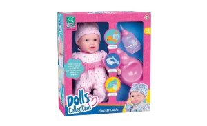 Boneca Dolls Collection Hora Cuidar Xixi 433 Super Toys