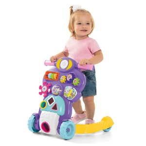 Andador Bebê Piloto Atividades Rosa 0888 Calesita