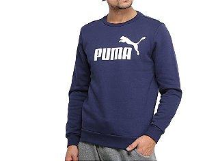 Blusao Moletom Ess Crew Sweat Big Logo Masculino Puma