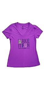 T-Shirt Skin Fit Make It Fun Alto Giro