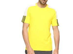 Camiseta French Colorblock Linear Masculina Amarelo Adidas