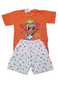 Conjunto Pijama Infantil Meninos Cenoura Cara de Criança