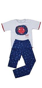 Conjunto Pijama Infantil Meninos Marte Cara de Criança