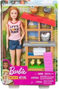 Boneca Barbie Profissões FXP15 Granjeira Mattel