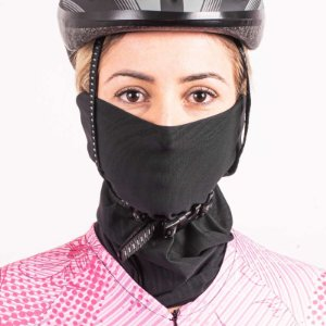 Bandana Ciclista Bike Rosto/Pescoço Multiuso Preto Poker