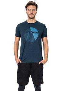 Camiseta Masculina Azul-Marinho Morning Run Live!