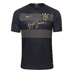 Camisa Corinthians III 2018 SN° Senna Torcedor Nike Masc