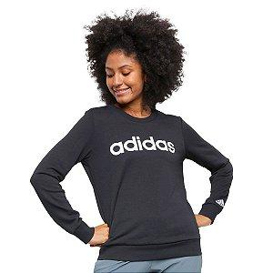 Moletom Preto Essentials Linear Feminino Adidas