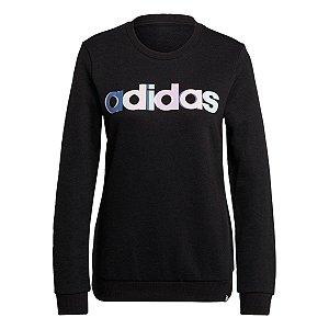 Blusa Moletom Estampada Multicolorida Adidas