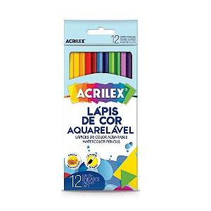 LAPIS DE COR 12 CORES SEXTAVADO AQUARELAVEL ACRILEX