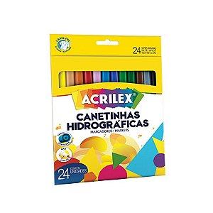CANETA HIDROGRAFICA 24 CORES ACRILEX