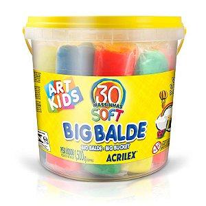 MASSA DE MODELAR BIG BALDE 1,5KG - 30 UNID DE 50G - ACRILEX